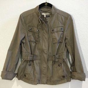 (EC) LOFT military/utility style olive jacket